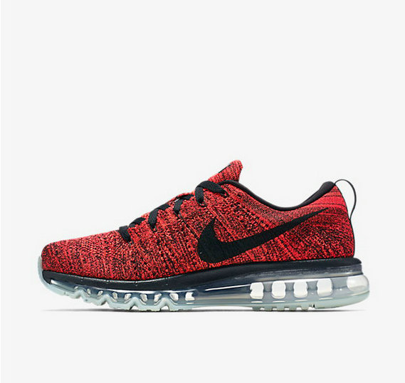 Cheap Flyknit AirMax Red Black Grey On VaporMaxRunning