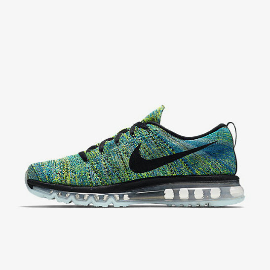 Cheap Flyknit AirMax Green Blue Black Grey On VaporMaxRunning