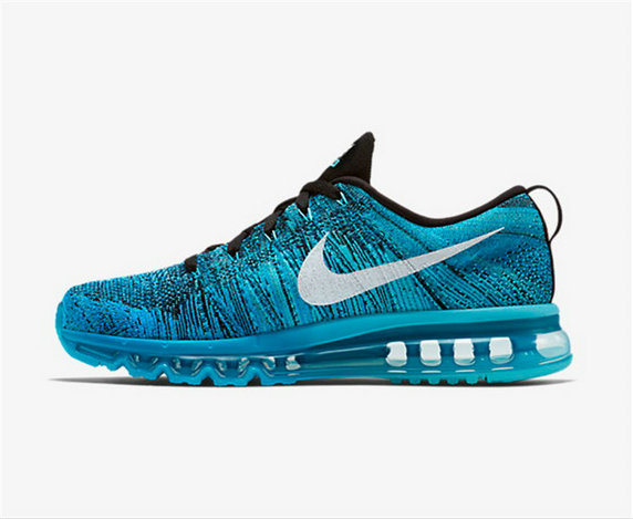 Cheap Flyknit AirMax Blue Black Grey On VaporMaxRunning