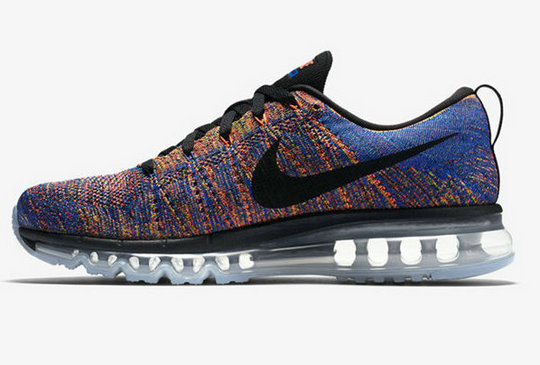 Cheap Flyknit AirMax Black Orange Blue Black Grey On VaporMaxRunning