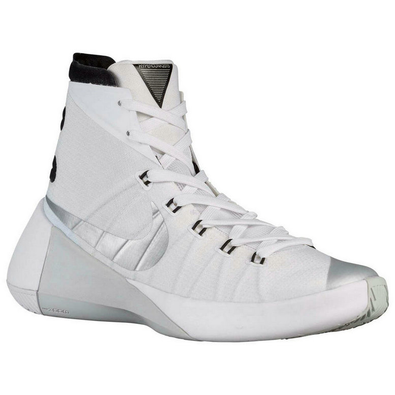 Nike Hyperdunk 2015 Cheap  On Sale White Black Metallic SilverOn VaporMaxRunning