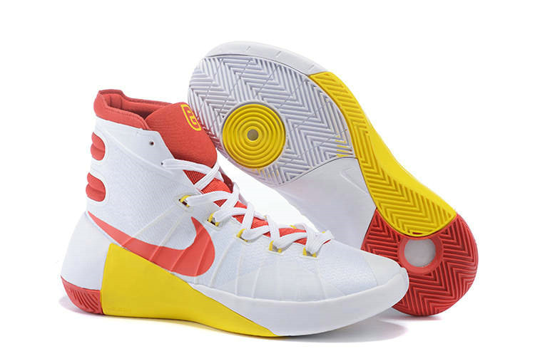 Nike Hyperdunk 2015 White Red Yellow On VaporMaxRunning