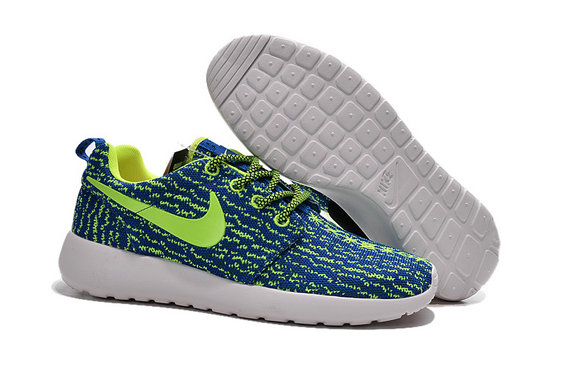 Cheap Nike Roshe One Yeezy 350 Green Blue White On VaporMaxRunning
