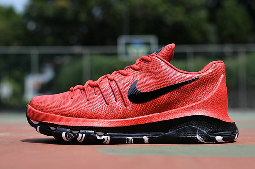 Cheap KD 8 Leather Red Black On VaporMaxRunning