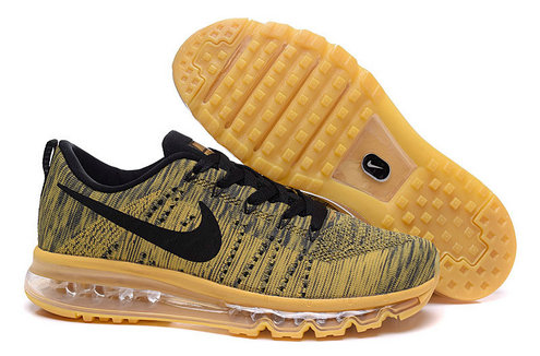 Cheap Nike Flyknit Air Max Mens Gold Black On VaporMaxRunning