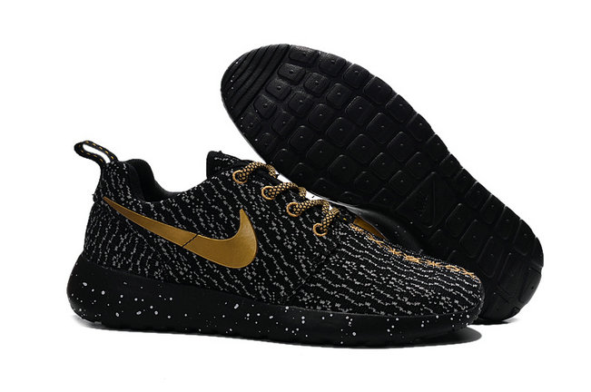 Cheap Nike Roshe One Yeezy 350 Gold Black Grey On VaporMaxRunning