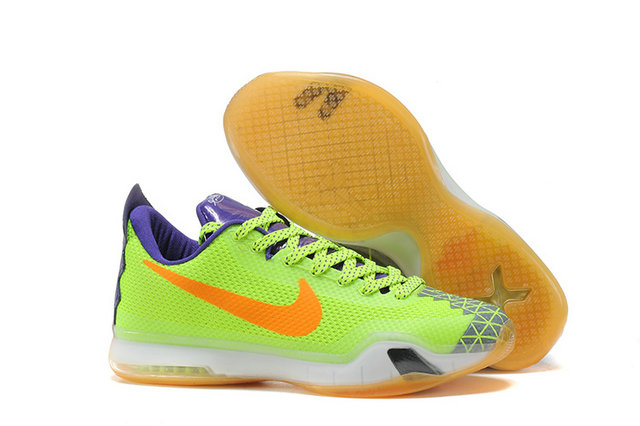 Cheap Kobe 10 X Green Purple Orange On VaporMaxRunning