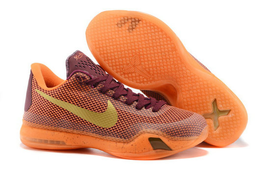 Cheap Kobe 10 X Orange Purple Gold On VaporMaxRunning