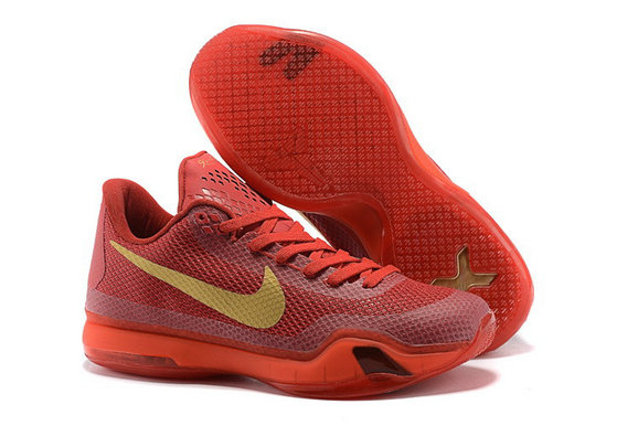 Cheap Kobe 10 X Red Gold On VaporMaxRunning