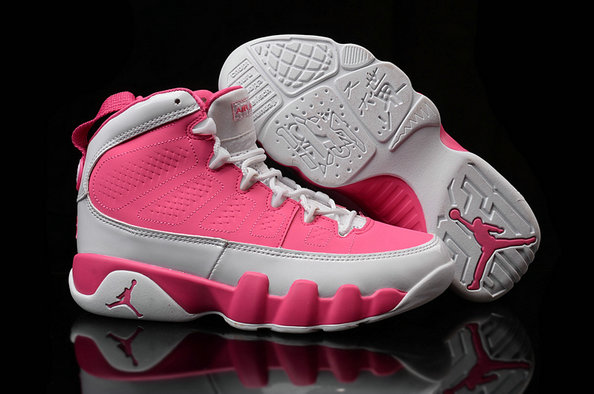 Cheap Women Air Jordan 9 Retro Pink Grey On VaporMaxRunning