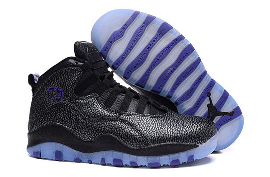 Online Sale Air Jordan 10 Womens Black Blue On VaporMaxRunning