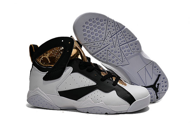 Cheap Air Jordan 7 Men Gold White Black On VaporMaxRunning