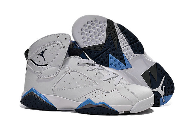 Cheap Air Jordan 7 Men White Blue Grey Black On VaporMaxRunning