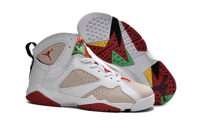 Cheap Air Jordan 7 Men White Grey Red Green Yellow On VaporMaxRunning