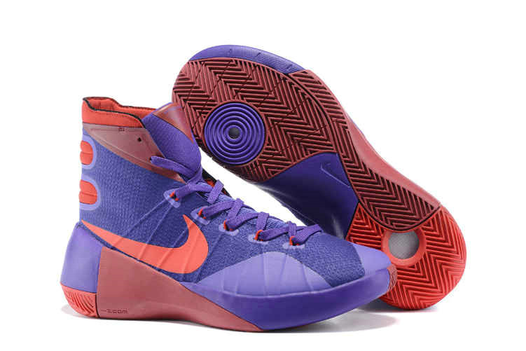 Cheap New Hyperdunk 2015 Purple Sport Red On VaporMaxRunning