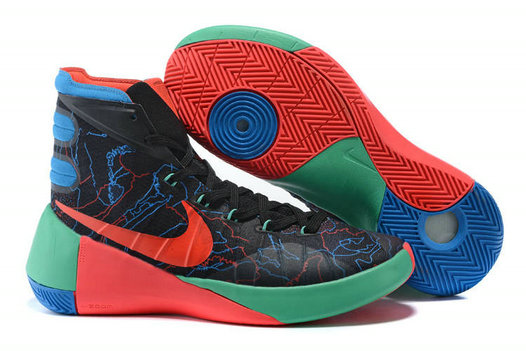 Nike Hyperdunk 2015 Black Red Blue Green On VaporMaxRunning