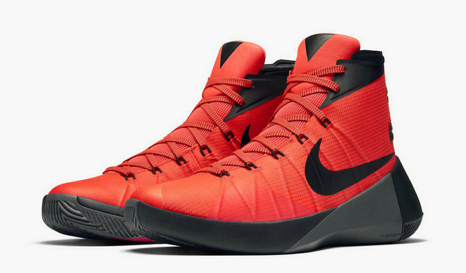 Nike Hyperdunk 2015 Cheap  On Sale Bright Crimson Black Dark GreyOn VaporMaxRunning