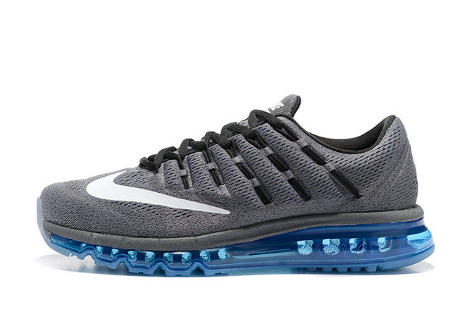 Cheap Nike AirMax 2016 Dark Grey Blue White Black On VaporMaxRunning