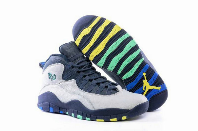 Cheap NikeAirJordan 10 Grey Black Yellow Green On VaporMaxRunning