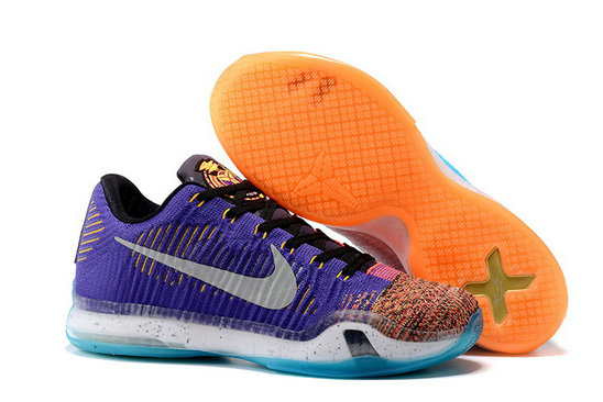 Cheap NikeKobe 10 Flyknit Blue Purple Orange Pink On VaporMaxRunning