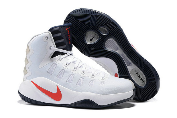 Cheap Hyperdunk 2016 White Red Black On VaporMaxRunning