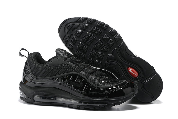 finest selection f6840 3a2c5 Cheap Nike Air Max 98 Supreme Total Black On VaporMaxRunning
