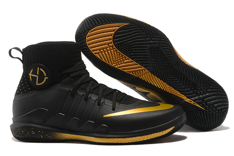 Nike Hyperdunks Cheap Nike Hyperdunk 2017 TB Gold Black On VaporMaxRunning