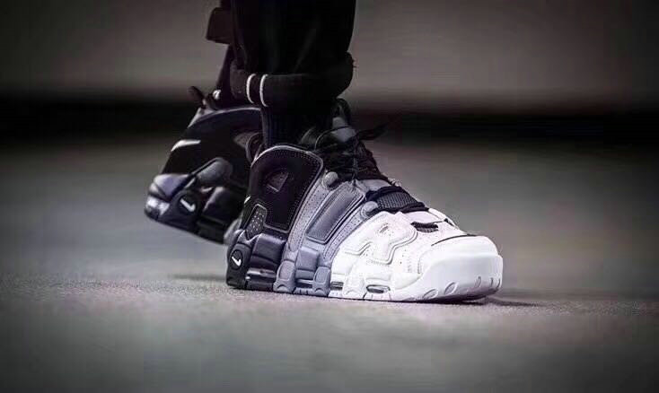 2017 Cheap Nike Air More Uptempo Grey White Black On VaporMaxRunning
