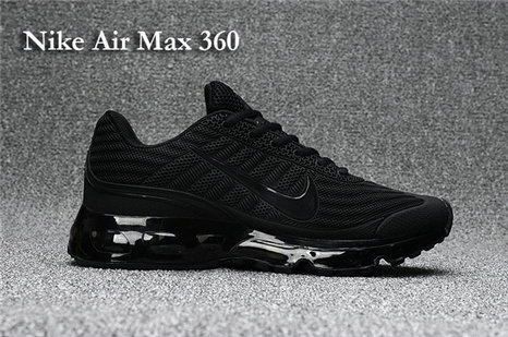 Cheap Nike Air Max 360 All Black On VaporMaxRunning