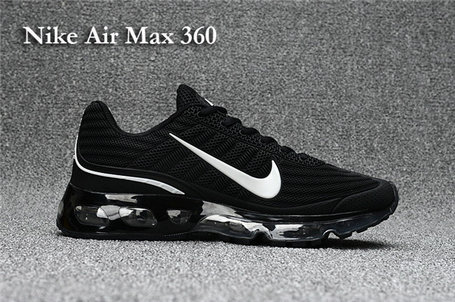 Cheap Nike Air Max 360 Black White On VaporMaxRunning