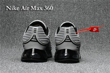 Cheap Nike Air Max 360 Grey Black On VaporMaxRunning