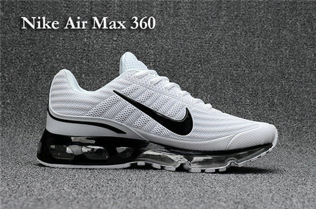 Cheap Nike Air Max 360 White Black On VaporMaxRunning