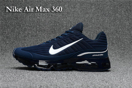 Cheap Nike Air Max 360 White Navy Blue On VaporMaxRunning