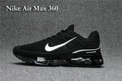 Cheap Air Max 360 Womens Black White On VaporMaxRunning