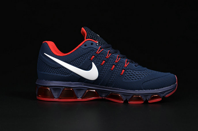 Cheap Nike Flyknit Air Max Tailwind 8 White Navy Blue Red On VaporMaxRunning