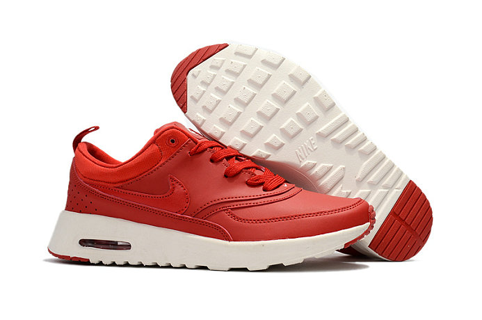 Cheap Nike Air Max 87 Mens Leather White Red On VaporMaxRunning