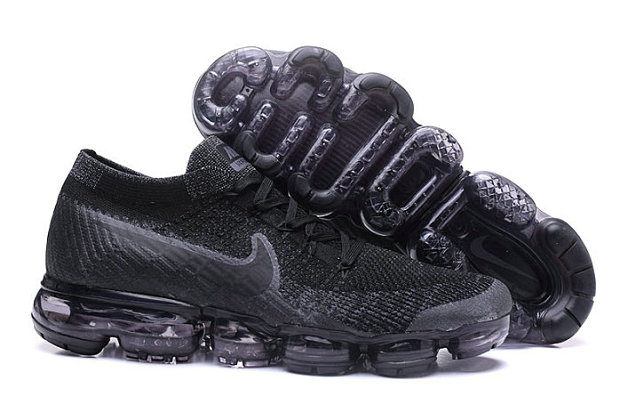 Cheap Nike Air VaporMax 2017 Flyknit Womens Black Deep Grey On VaporMaxRunning