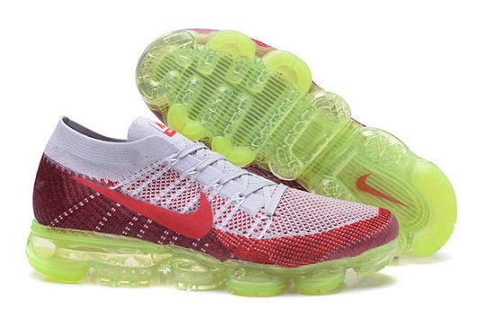 Cheap Nike Air VaporMax 2017 Flyknit Womens Grey Red Green On VaporMaxRunning