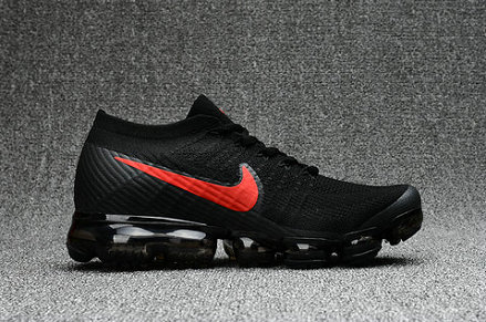 Cheap Nike Air VaporMax 2017 Flyknit Womens Black Fire Red On VaporMaxRunning