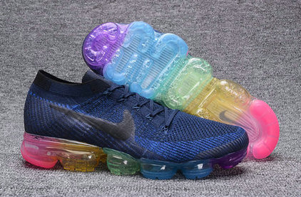 Cheap Nike Air VaporMax Womens Rainbow Blue On VaporMaxRunning