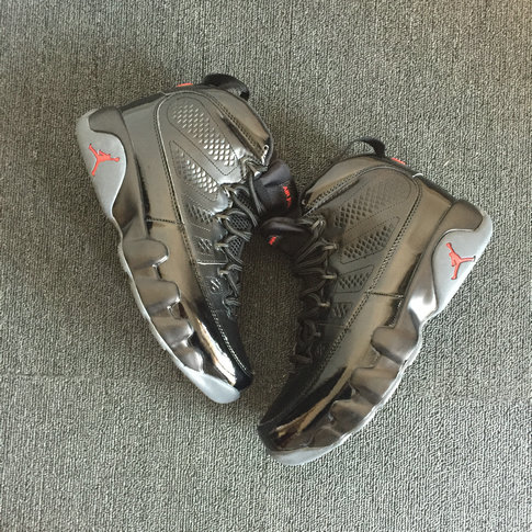 2018 Air Jordan Shoes x Cheap Air Jordan 9 Black Red Grey On VaporMaxRunning