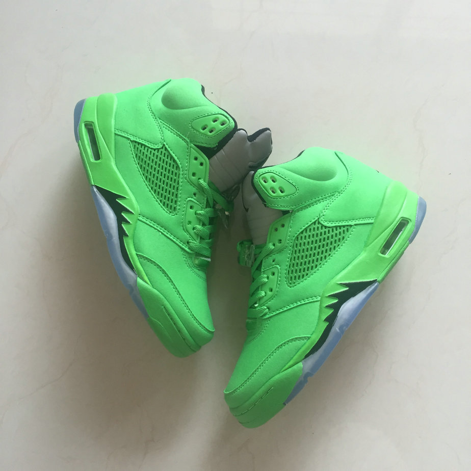 2018 Air Jordan Shoes x Cheap Nike Air Jordan 5 Apple Green On VaporMaxRunning