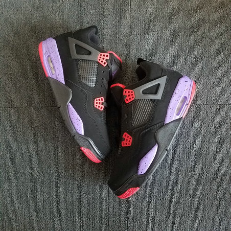 2018 Cheap Air Jordans Retro 4 Raptors Red Black Purple On VaporMaxRunning