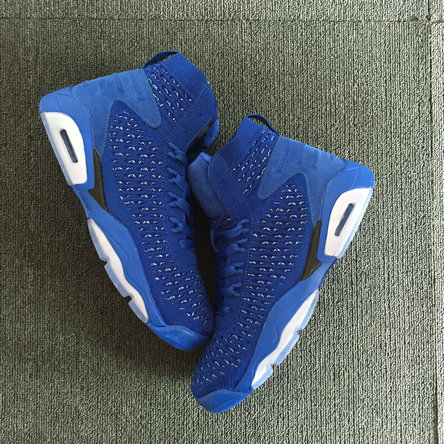 2018 Cheap Air Jordans Retro 6 Royal Blue Black On VaporMaxRunning