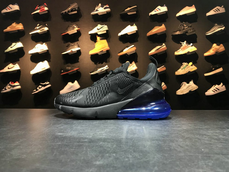 buy popular 43487 bc811 2018 NikeLab Air Max x Cheap Nike Air Max 270 Flyknit Black Loyal Blue Noir  Bleu