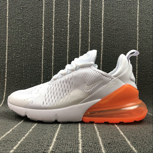 buy online febb5 8bd5d 2018 NikeLab Air Max x Cheap Womens Nike Air Max 270 White Orange Blanc  Orange On