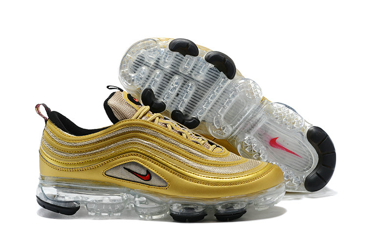 2018 NikeLab VaporMax x Cheap Nike Air VaporMax 97 Reinterprets Metallic Gold OG On VaporMaxRunning