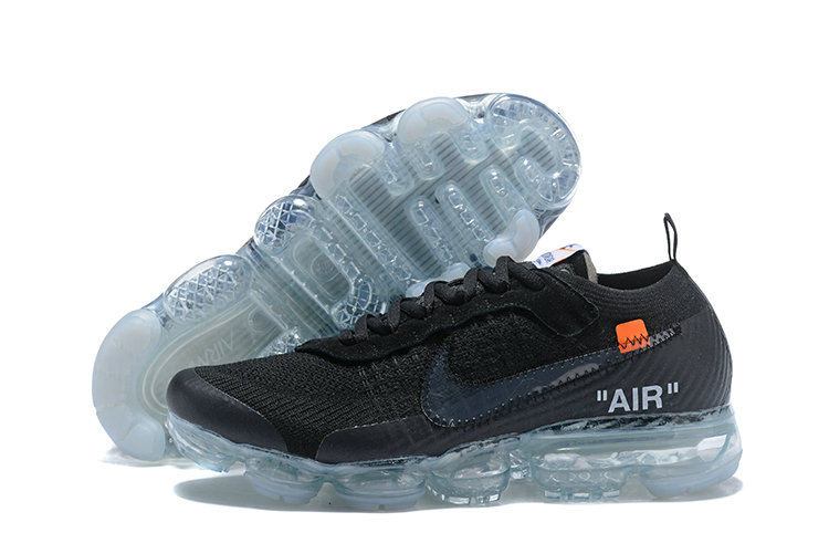2018 NikeLab VaporMax x Cheap Nike Air VaporMax OFF WHITE Black Total Orange Clear On VaporMaxRunning