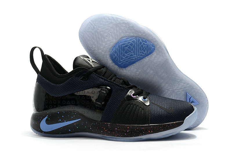 2018 Cheap Nike PG 2  Paul George Black Blue On VaporMaxRunning