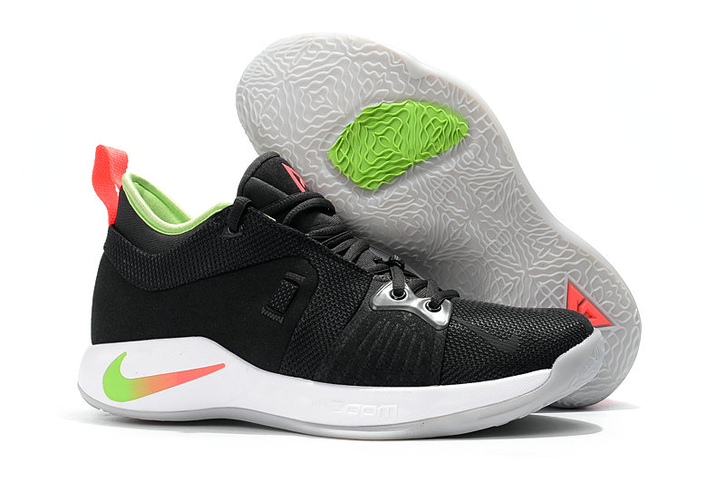2018 Cheap Nike PG 2  Paul George Black White Red Grass Green On VaporMaxRunning
